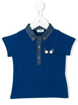 Fendi Kids футболка-поло из ткани пике BMI058AVP