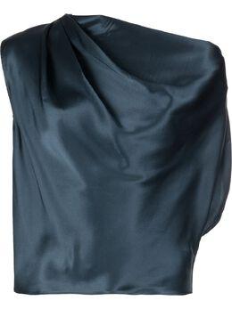 Michelle Mason блузка асимметричного кроя с драпировкой M2869