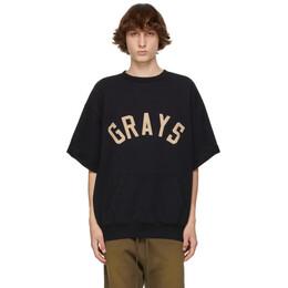 Fear Of God Black Grays 3/4 Sleeve Sweatshirt FG50-034FLC