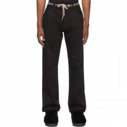 Aries Black Logo Print Lilly Jeans SRAR30401