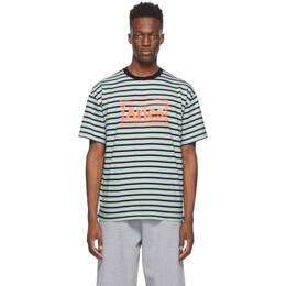 Aries Multicolor Striped Temple T-Shirt SRAR60020