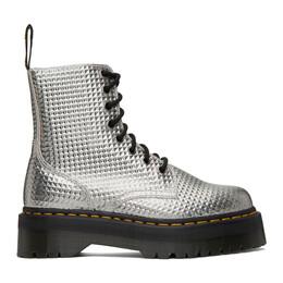 Dr. Martens Silver Jadon Stud Emboss Platform Boots 26648040