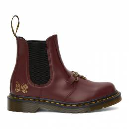 Needles Burgundy Dr. Martens Edition 2976 Snaffle Chelsea Boots 26908600