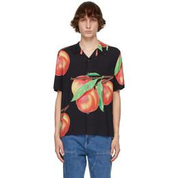 Stussy Black Peach Pattern Short Sleeve Shirt 1110159