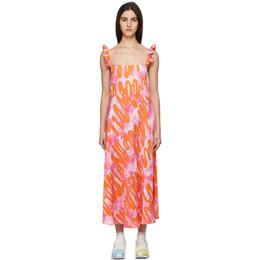 Collina Strada Pink Ruffle Market Dress XX4391