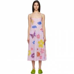 Collina Strada Pink Rhinestone Market Dress XX4393