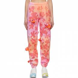 Collina Strada Pink Flower Patch Bow Lounge Pants XX6379