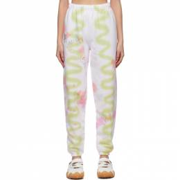 Collina Strada SSENSE Exclusive Green and Pink Swirl Lounge Pants XX6380