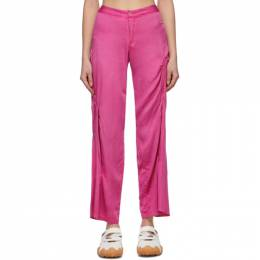 Collina Strada Pink Draped Trousers XX6350
