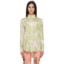 Collina Strada SSENSE Exclusive Green Convention Shirt XX3690