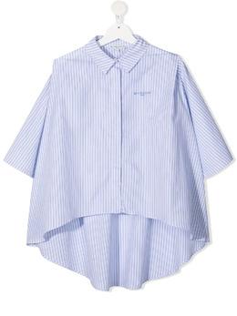Givenchy Kids рубашка с вышитым логотипом H15208