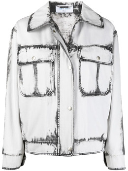 Alberta Ferretti джинсовая куртка с принтом тай-дай A05070178