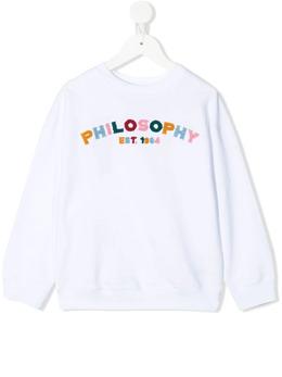 Philosophy Di Lorenzo Serafini Kids толстовка с круглым вырезом и логотипом PJFE55FE144B116