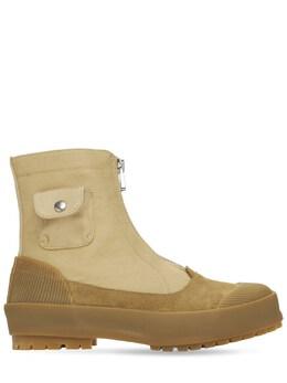 Ботинки Из Замши И Канвас 20мм J.W. Anderson 73IIAU004-MTU10