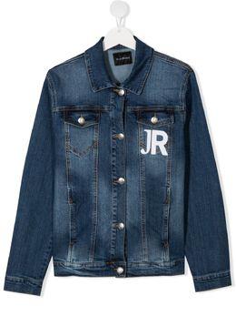 John Richmond Junior джинсовая куртка с логотипом RBP21146GB