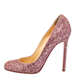 Christian Louboutin Pink Glitter Fifille Pumps Size 39.5 411408
