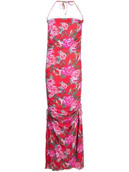 Fisico платье со сборками и цветочным принтом FV62LR
