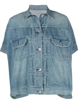 Sacai джинсовая куртка с короткими рукавами 2105603