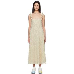 Collina Strada Beige Ruffle Market Dress XX4391