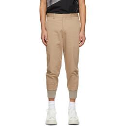 Neil Barrett Brown Travel Slim Low Rise Trousers PBPA78SH-Q000