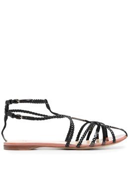 Francesco Russo сандалии с плетеными ремешками FR36103A13173