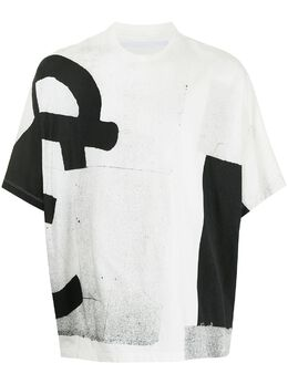 Julius футболка с контрастным принтом 737CPM1
