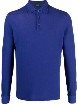 Zanone рубашка поло с длинными рукавами 812294zw370