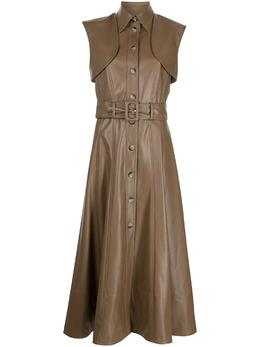 Materiel платье из искусственной кожи с поясом SS21TIKM17504DRBRBROWN