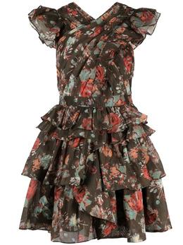 Ulla Johnson платье с цветочным принтом и складками SP210114