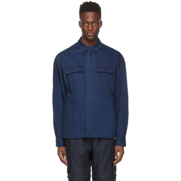 Juun.J Blue Denim Two Pockets Contrast Shirt JC1164P20