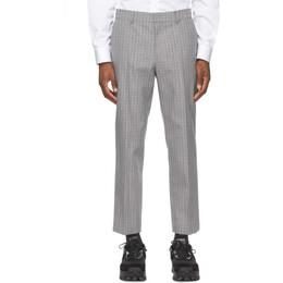 Juun.J Grey Wool Check Glen Trousers JC1121P0D3