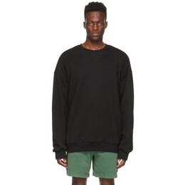 Juun.J Black Side-Seam Zip Sweatshirt JC1141P02