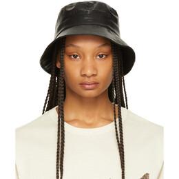 Juun.J Black Faux-Leather Nouvelle Tendance Bucket Hat JW128BWZ05
