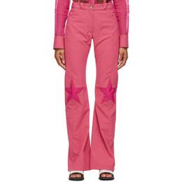 Kiko Kostadinov Pink Check Estelle Trousers KKWSS21T01-02