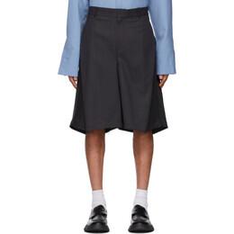 Ader Error Black Striped Balkan Shorts BKASSST01ST