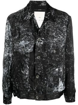 Song For The Mute куртка-рубашка с эффектом разбрызганной краски MJK052VISC