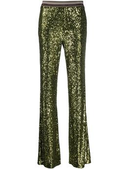 Luisa Cerano брюки bootcut с пайетками 6382903248