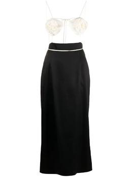 Magda Butrym платье макси с бюстье 220521