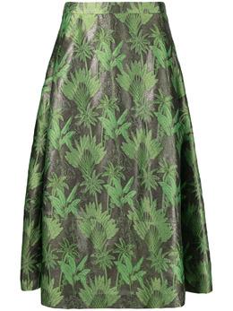 Luisa Cerano жаккардовая юбка миди 5381193247