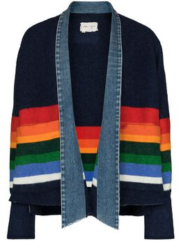 Greg Lauren джинсовая куртка с полосками BM128