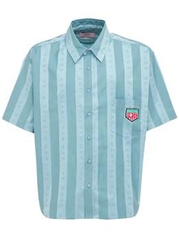 Рубашка Из Хлопка В Полоску Martine Rose 73IBF7002-TVIwNjE1