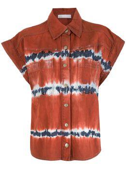 NK рубашка с короткими рукавами и принтом тай-дай CM040150