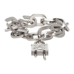 Givenchy Silver G Link Padlock Bracelet BF20B7F003