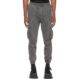 Juun.J Grey Garment-Dyed Jogger Cargo Pants JC1221P3B3