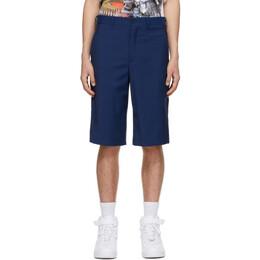 Comme Des Garcons Homme Plus Blue Wool Shorts PG-P048-051