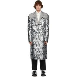 Comme Des Garcons Homme Plus Silver Layered Inkjet Print Coat PG-J021-051