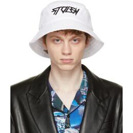 Stolen Girlfriends Club White Towel Bucket Hat A091