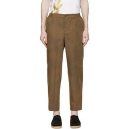 Comme Des Garcons Homme Deux Brown Herringbone Stripe Trousers DG-P030-051