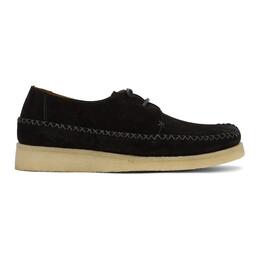 Comme Des Garcons Homme Deux Black Padmore and Barnes Edition Suede Loafers DG-K101-001