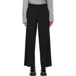 Comme Des Garcons Homme Plus Black Wool Wide Trousers PG-P036-051